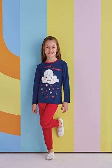 Roly Poly Rolypoly Sweet Dream Kız Çocuk Pijama Takımı Pembe Lacivert